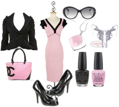 Amy's pink and black outfit-thumb-480x432-124707